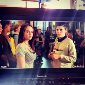 JoJo (Joanna Levesque) and Molly Tarlov on the set of 'Gay Best Friend' Movie - September 17, 2012