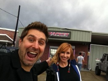 Kari Byron - Twitpic with Tory - 1MQ 23/9/12