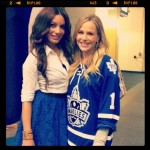 Julie Benz - Twitpics from Toronto Marlies game 10-14-2012