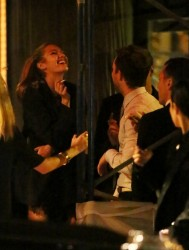 Candice Swanepoel Partying After Event At Museum Of Fine Arts October 18, 2012 MQ x 13