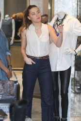 Amber Heard Shopping At Monika Chiang Store In LA October 20, 2012 HQ x 30