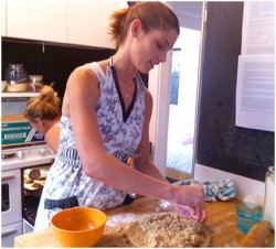 Ashley Greene..baking a Peach Tart, November 2012