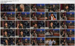 Salma Hayek @ Late Show w/David Letterman 2012-10-10