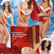 Gatas QB - The Nuts Christmas Special   Lucy Pinder, India Reynolds, Holly Peers e Rosie Jones   Nuts Magazine   14 Dezembro 2012