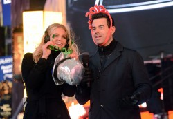Erin Heatherton - New Year's Eve 2013 with Carson Daly in NYC 12/31/12