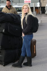 Heidi Montag - at Heathrow Airport in London 12/30/12