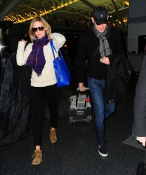 Emily Blunt - arrives on a flight at LAX Airport 1/7/13
