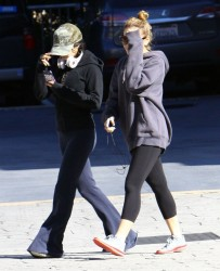 Vanessa & Stella Hudgens - at the gym in Studio City 1/12/13