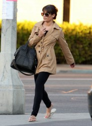 Lea Michele - at a salon in West Hollywood 1/16/13