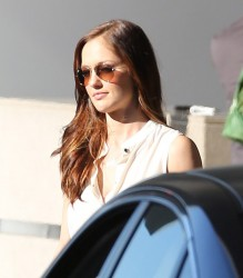 Minka Kelly - leaves a meeting in Century City 1/17/13