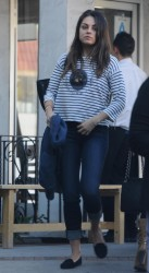 Mila Kunis - leaving Sushi Yuzu restaurant in Toluca Lake 1/17/13
