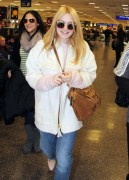 Dakota Fanning - arriving in Salt Lake City to attend the Sundance FF 1/21/13