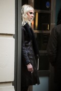 Taylor Momsen - having a smoke this morning in NYC 1/25/13