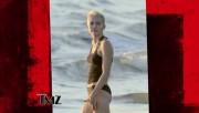 Miley Cyrus wearing a bikini in Costa Rica 1/21/13 **ADDS**