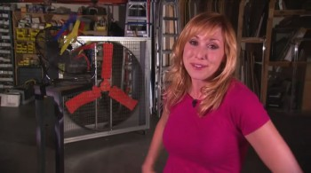 Kari Byron - Caps & Gif  - Behinds the scenes of the Mythbusters Explosive Exhibition - 28/1/13