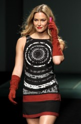 Bar Refaeli - walks the runway for Desigual at Barcelona Fashion Week 1/30/13