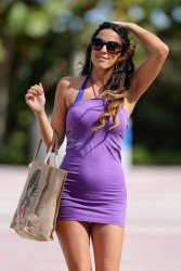 Claudia Romani - leaves her apartment in Miami Beach 2/4/13