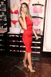 Candice Swanepoel & Lily Aldridge - Victoria's Secret Angels Valentine's Day event in NYC 2/6/13