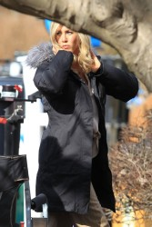 Jennifer Aniston - on the set of an untitled project in Connecticut 2/6/13