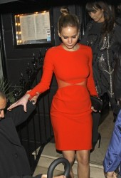 Jennifer Lawrence - leaving the Nozomi restaurant in London 2/9/13