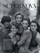 Naomi Campbell, Linda Evangelista, Tatjana Patitz, Christy Turlington & Cindy Crawford - Vogue Australia - March 2013 (x5)