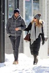 Blake Lively - out and about in Sudbury, Canada 2/9/13