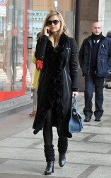 Bar Refaeli - out and about in Milan 2/12/13