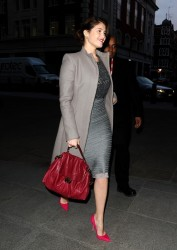 Gemma Arterton - at Radio One in London 2/15/13