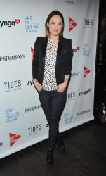Olivia Wilde - Half The Sky Movement: The Game Launch in NYC 3/4/13