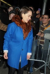 Emilia Clarke - at the Cort Theatre in NY 3/4/13