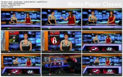 CLAUDIA TREJOS cleavage - Contacto Deportivo - August 28 ,2012 - *cleavage*