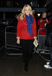 Carrie Underwood - at BBC Radio 2 Studios in London 3/13/13