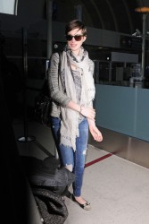 Anne Hathaway - arrives at LAX Airport 3/13/13