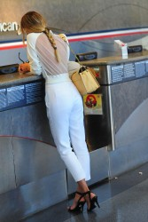 Candice Swanepoel - at LAX Airport 3/13/13