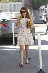 Emma Roberts - At starbucks in LA 3/14/13