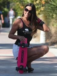 Claudia Romani - posing for a photoshoot in Miami 3/15/13