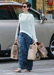 Anne Hathaway - at Whole Foods in West Hollywood 3/18/13