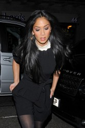 Nicole Scherzinger - out for dinner in London 3/20/13