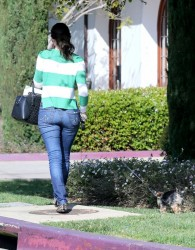 Emmy Rossum - arrives at her hotel in Santa Barbara 3/24/13