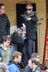 Charlize Theron - On set of 'Hatfields & McCoys' in Boston 3/27/13