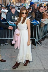 Eva Mendes - Visitng The Daily Show in NYC 3/27/13