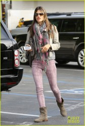 Alessandra Ambrosio - at the Brentwood Country Mart in Santa Monica 3/30/13