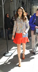 Emmy Rossum - out in NY 4/2/13