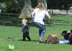 Hilary Duff - at a park in Beverly Hills 4/2/13