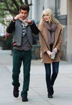 Emma Stone strolling in Tribeca today with her BF