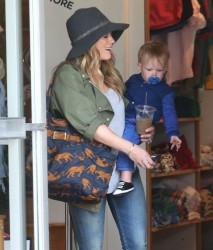 Hilary Duff - out in West Hollywood 4/15/13