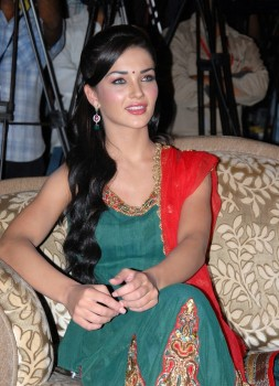 Amy Jackson in Green Dress At Telugu Film 'Siva Thandavam' Music Release event