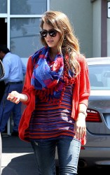 Jessica Alba - out in Santa Monica 4/26/13