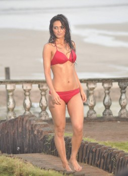 Madhurima Tuli in red bikini @Lethal Commission Photoshoot