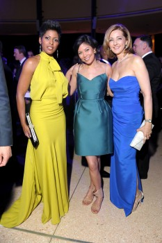CHRIS JANSING cleavage - Alex Wagner, Tamron Hall - white house correspondents' dinner - april 27, 2013